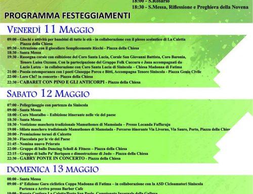 Sfilata Mamuthones e Issohadores – La Caletta (Siniscola) – Festa Madonna di Fatima